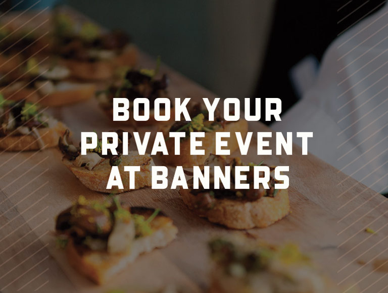 Book your private event at Banners in Boston