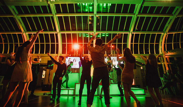 A bar mitzvah is celebrated at The Palm House at Brooklyn Botanic Garden