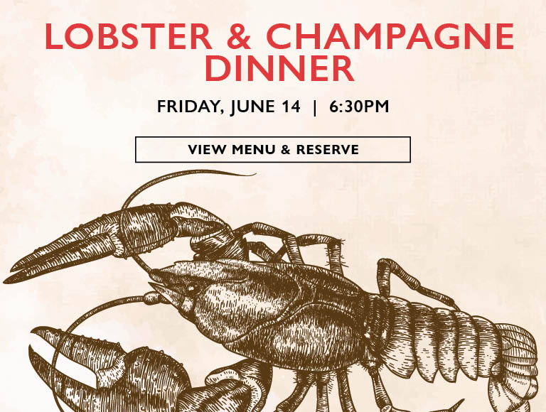 View Menu & Reserve | Lobster & Champagne Dinner at Café Centro on Friday, June 14 at 6:30PM