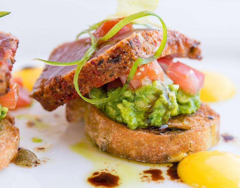 Ahi Bruchetta served at Catal Restaurant in Anaheim, CA