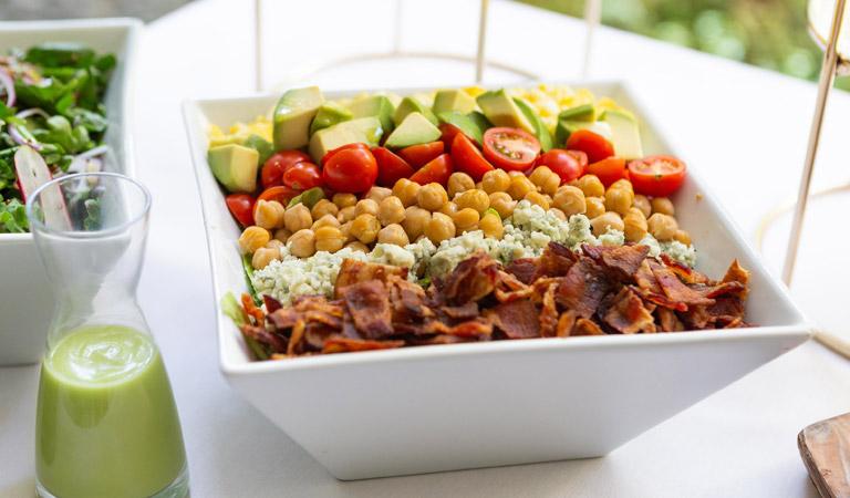 Fresh salad served at Colorado Kitchen in Santa Monica, CA