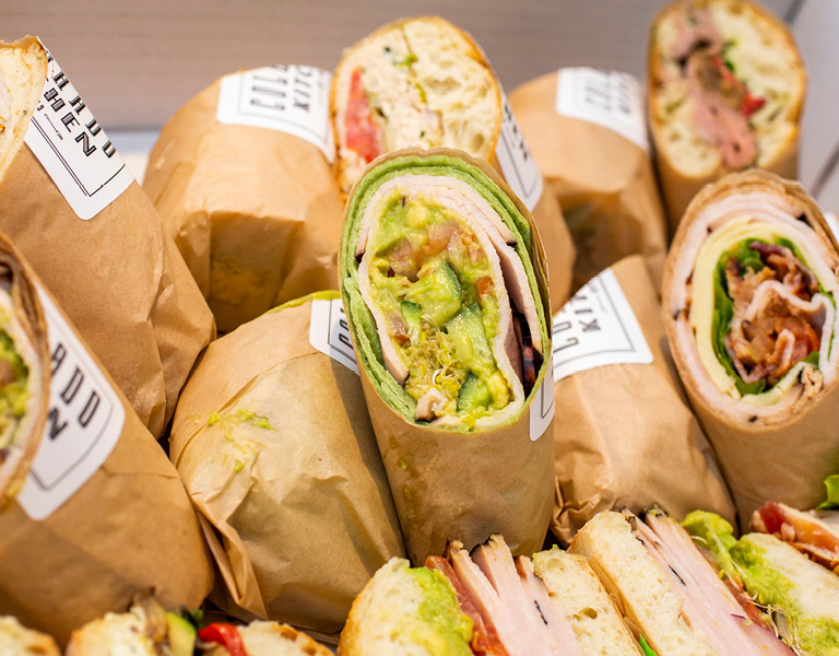 Catering sandwiches and wraps prepared by Colorado Kitchen in Santa Monica, CA