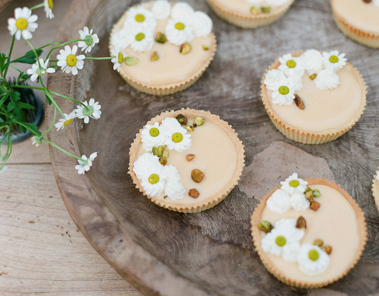 The Kitchen Mini Pistachio Tarts served at The Kitchen at Descanso in Southern California