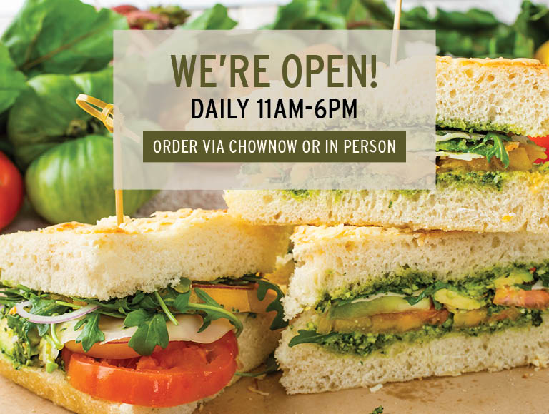 We're Open Daily 11am-6pm   Order Now Via ChowNow or In Person