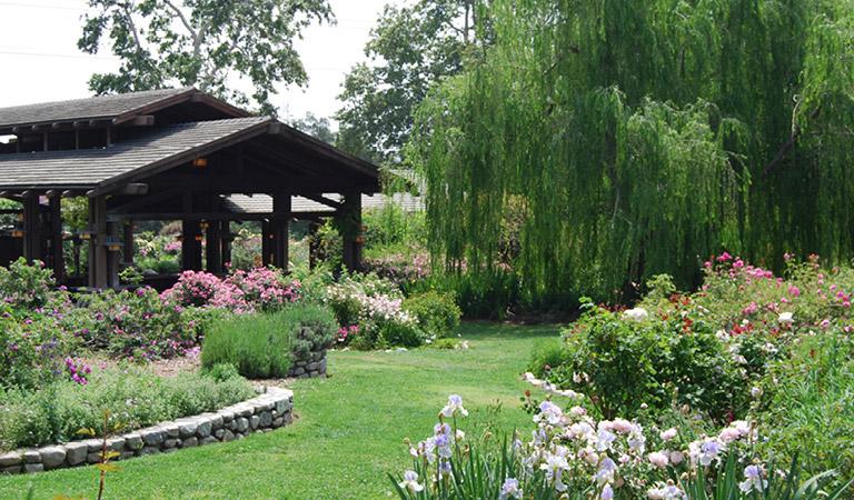 Outdoor event space at Descanso Gardens in La Cañada Flintridge, CA