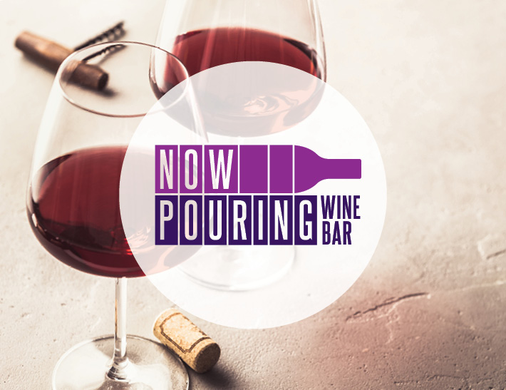 Now Pouring Wine Bar logo