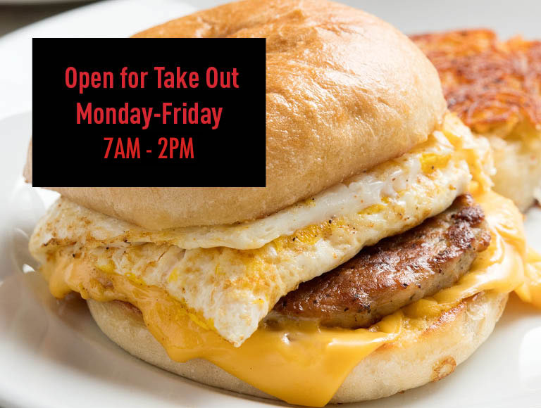 Takeout is available from Jakes Cafe