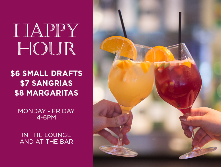 Happy Hour Specials at La Fonda del Sol | Monday-Friday, 4-6PM in the lounge and at the bar | Midtown NYC Happy Hour Specials