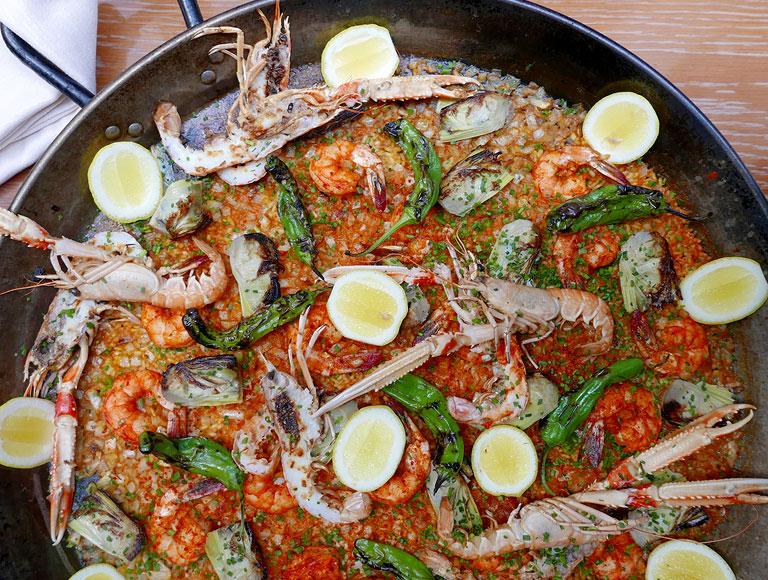 Spanish Seafood Paella | Spanish Dining Midtown, NYC