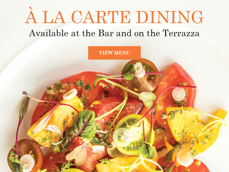 View Menu | À La Carte Dining Available at the Bar and on the Terrrazza at Lincoln Ristorante