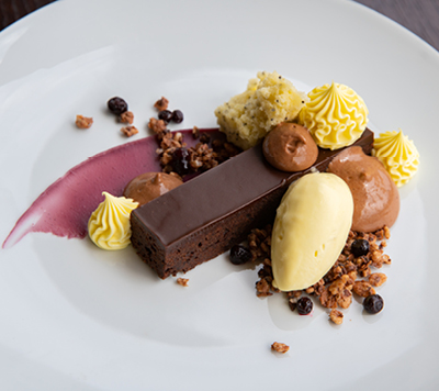 Dessert served at NYC's Lincoln Ristorante