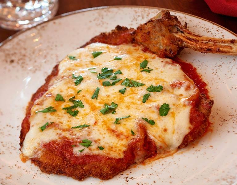 breaded chicken Italian dinner