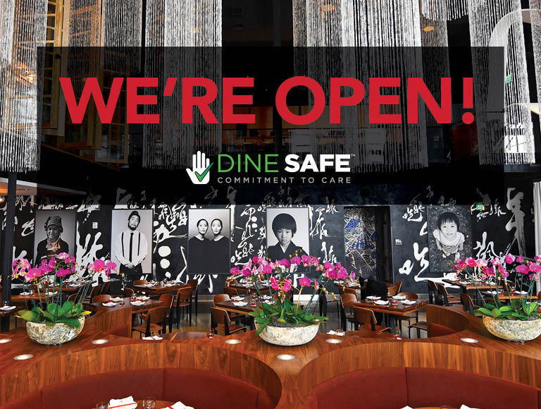 We're Open | Click to learn more about our Dine Safe | Commitment to Care program