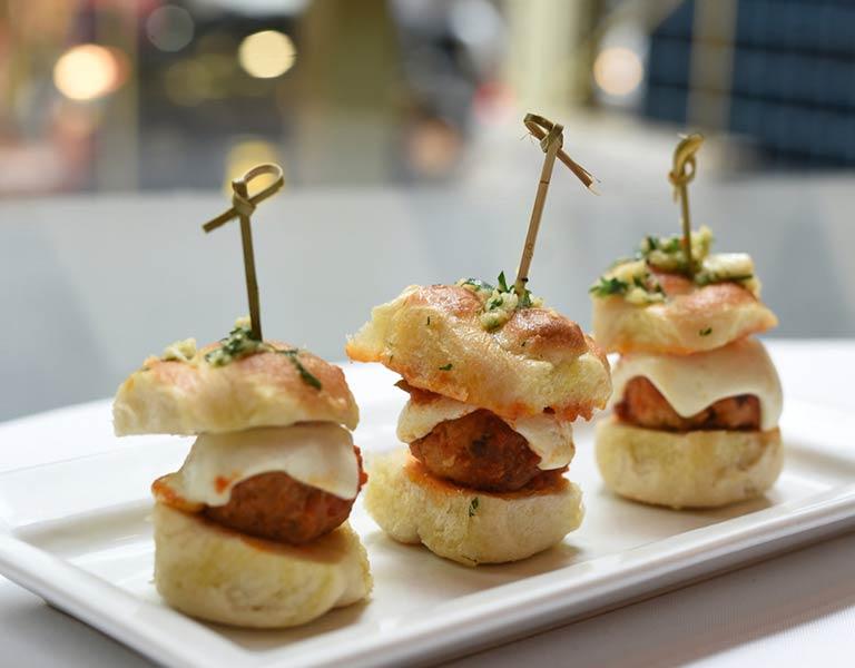 Meatball sliders, Italian Restaurant NYC