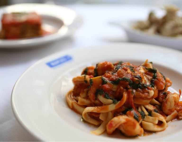 Fresh, handmade pastas, Italian restaurant, MetLife Building, NYC