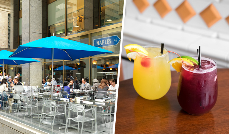 Patio Dining and Cocktails at Naples 45 Ristorante e Pizzeria   Private Event Space in NYC