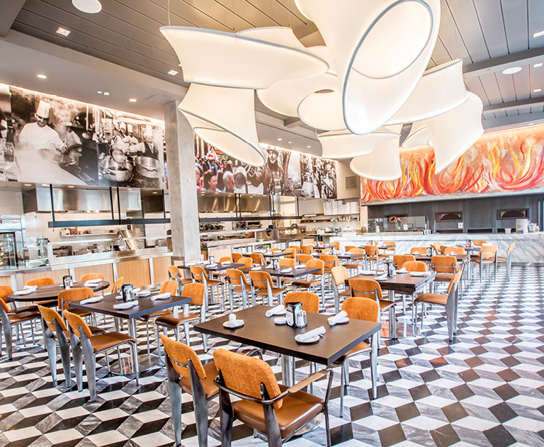 Naples Ristorante e Bar dining room interior   Anaheim Dining