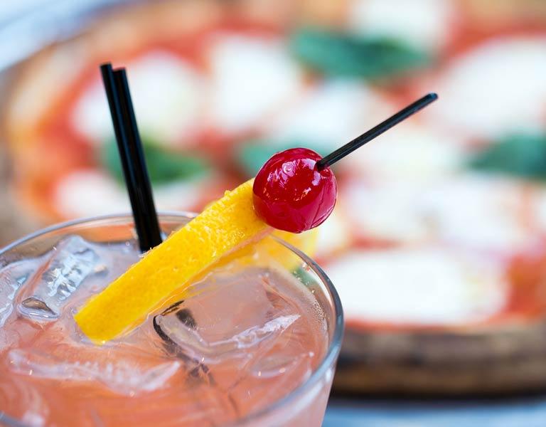 Cocktails & Pizza, Outdoor Bar & Restaurant, Downtown Disney