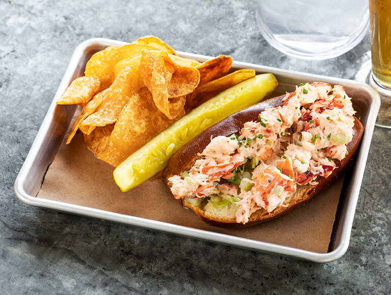 Lobster Roll with chips