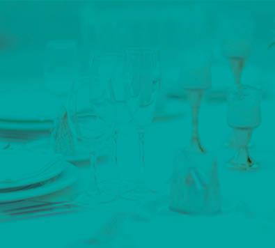 Plates, Silverware and Wine Glasses