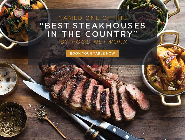 """Named one of the """"Best Steakhouses in the country"""" by Food Network 