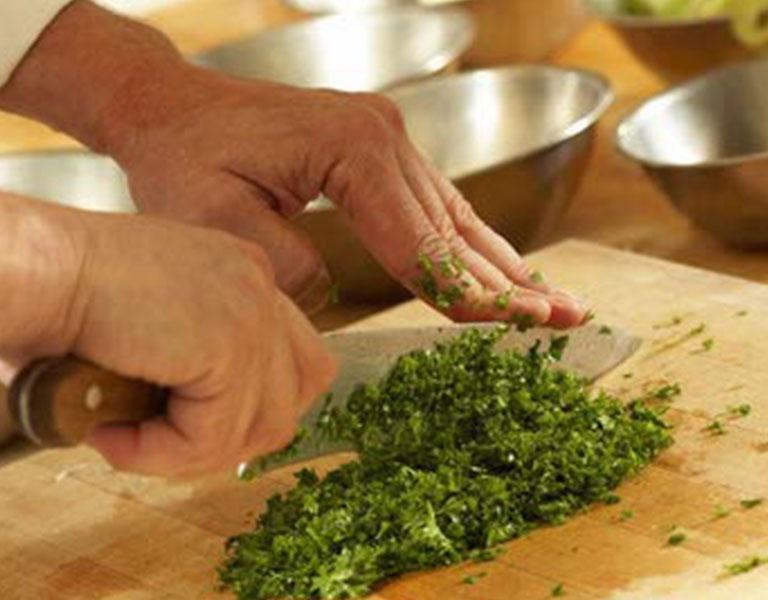 chef preparing ingredients