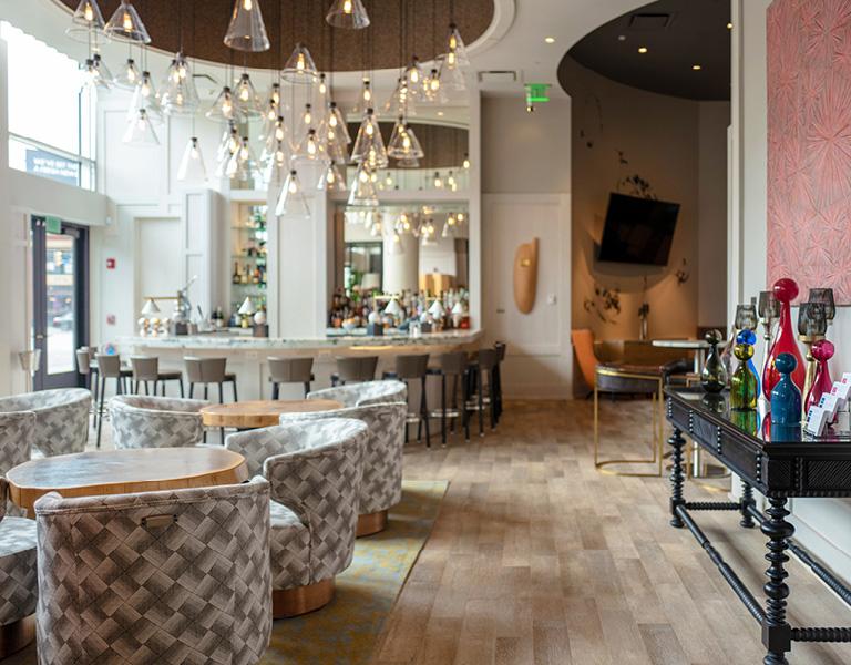 Patina 250 Bar and Lounge interior in downtown Buffalo, NY