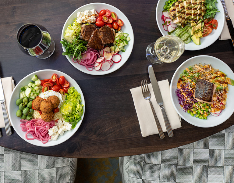 Lunch Bowls served at Patina 250 in downtown Buffalo, NY