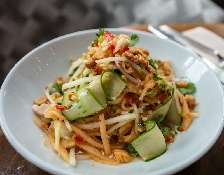Green Papaya and Lobster Salad served at Patina 250 in downtown Buffalo, NY