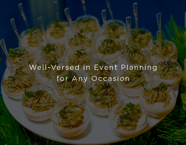 well versed in event planning for any occasion