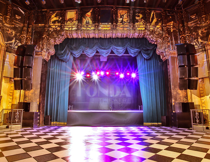 Interior of The Henry Fonda Music Box Theatre in Los Angeles, CA