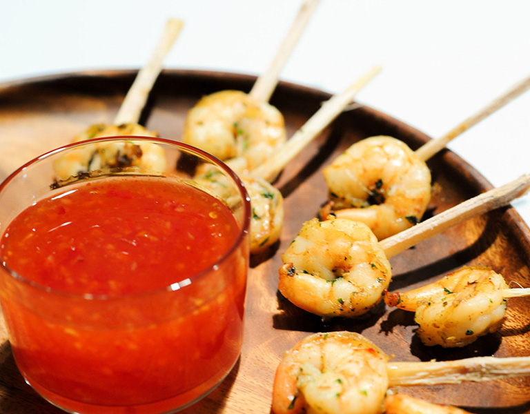 Shrimp with chili sauce