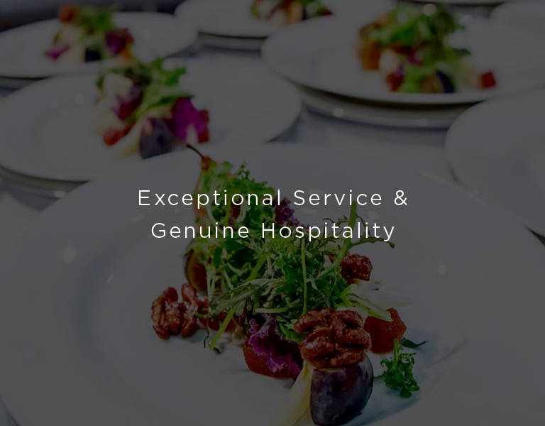 exceptional service and genuine hospitality