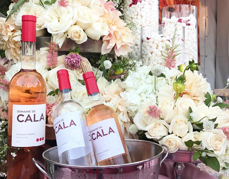 Bottles of Domaine de Cala Rosé
