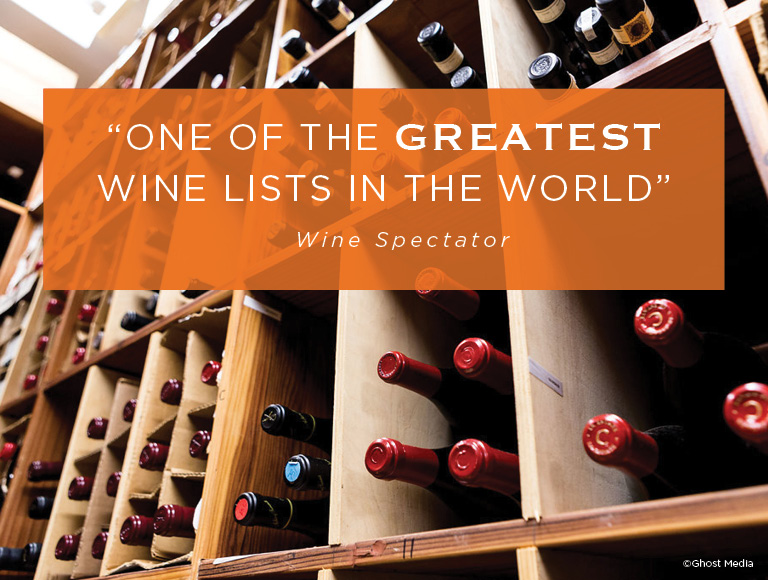Wine Spectator States Patina Restaurant Has One Of The Greatest Wine Lists In The World