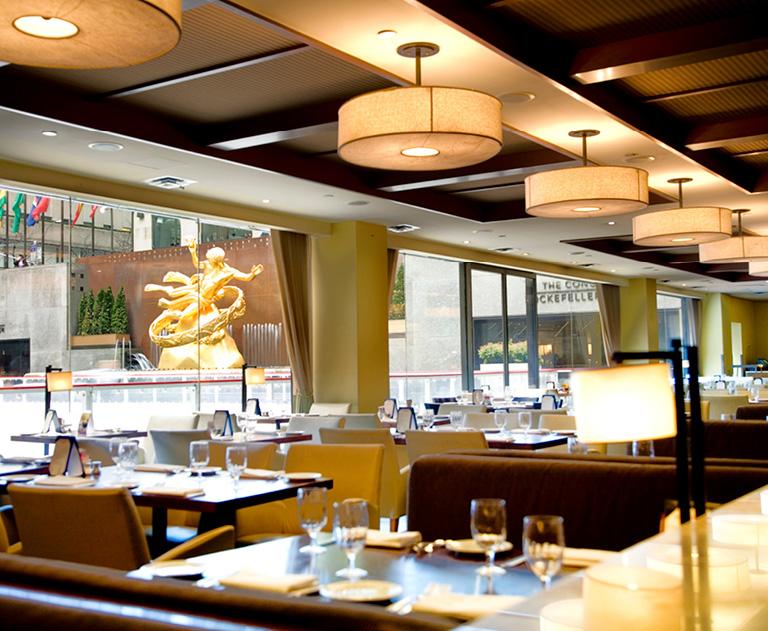 Rock Center Cafe restaurant Interior | Rockefeller Center, New York City