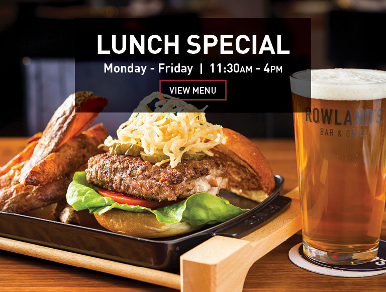 Burger, fries & beer, View lunch special menu | Daily 11:30AM-4PM