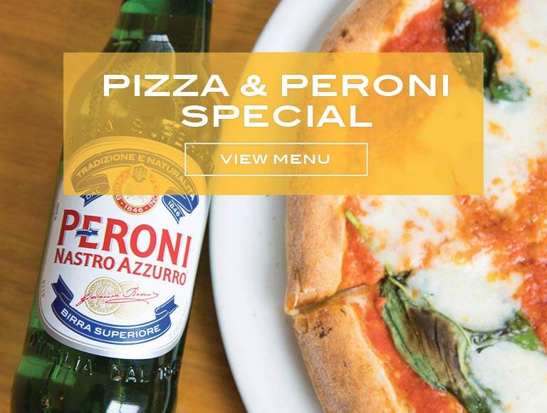 Pizza and Peroni Special, NYC