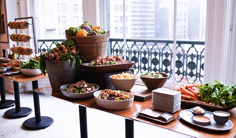 Stella 34 buffet spread