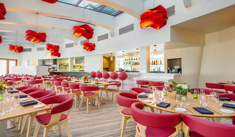Private dining area inside Tangata Restaurant in Orange County