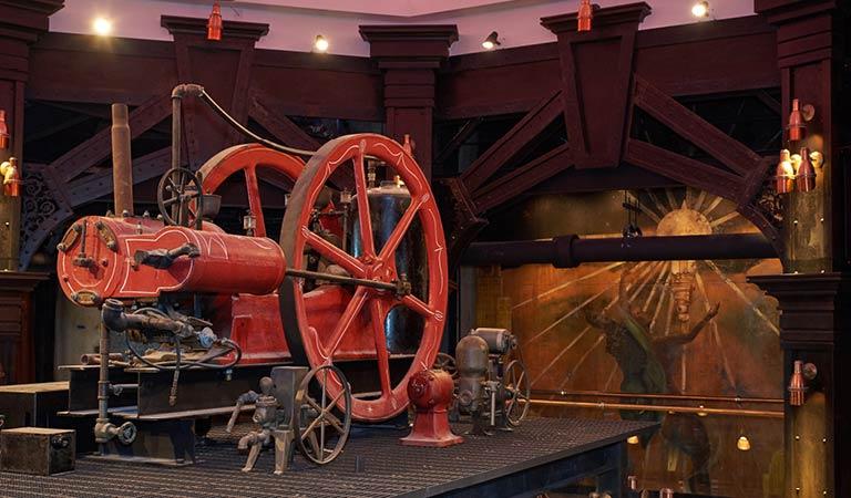 Industrial Wheel prop, The Edison, Disney Springs