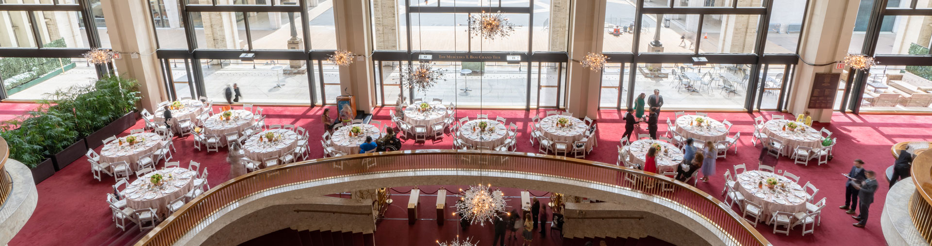 Private event space inside The Grand Tier Restaurant in NYC