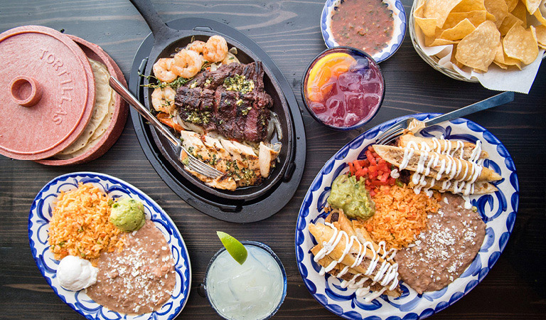 Fajitas, Flautas and Margaritas served at Tortilla Jo's in the Downtown Disney® District