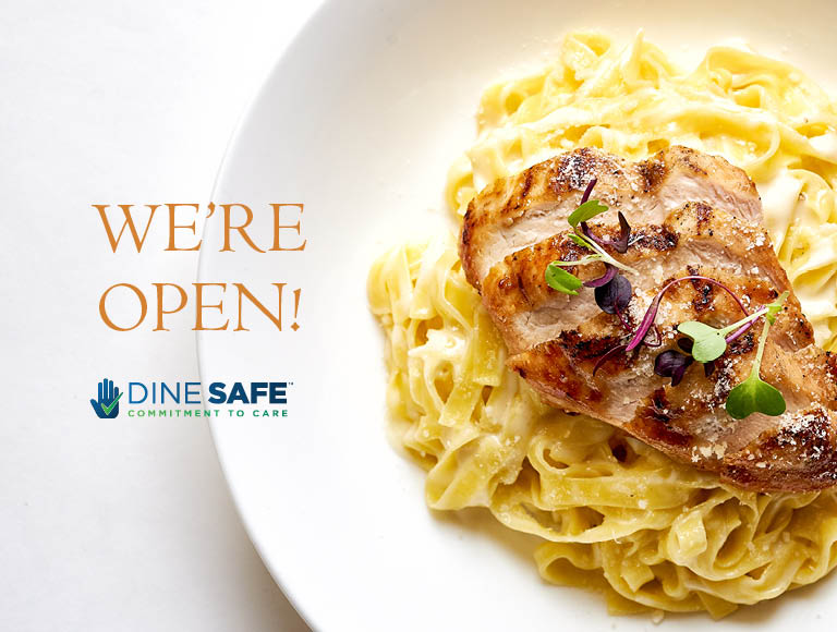 We're Open | Dine Safe Commitment To Care