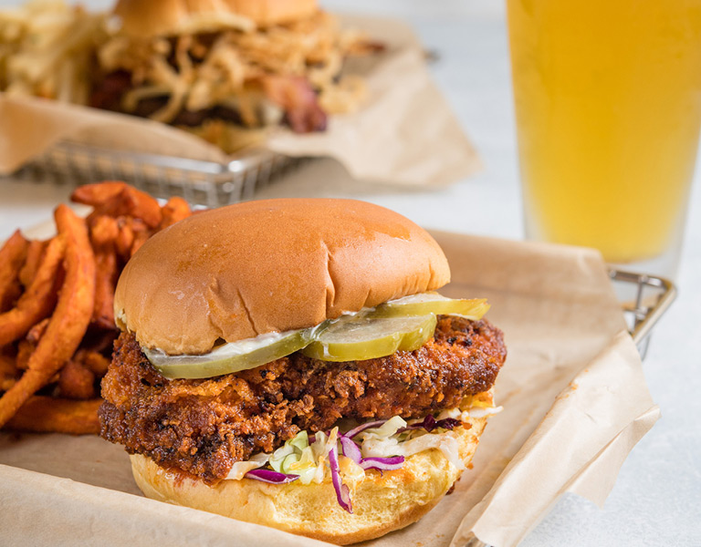 Fried Chicken Sandwich served at Uva Bar & Cafe in Downtown Disney