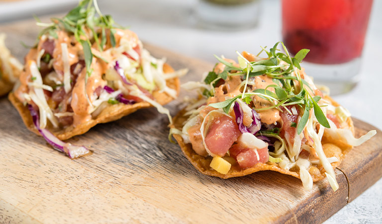 Nachos served at Uva Bar & Cafe in Downtown Disney
