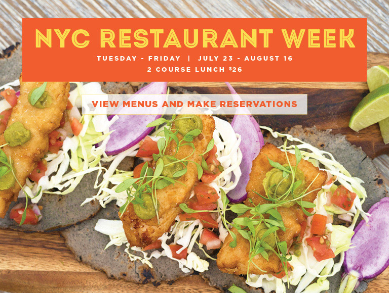 View menus and reserve for NYC Summer Restaurant Week | Tuesday-Friday, July 23-August 16