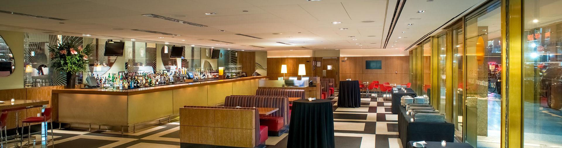 La Fonda del Sol dining area and bar