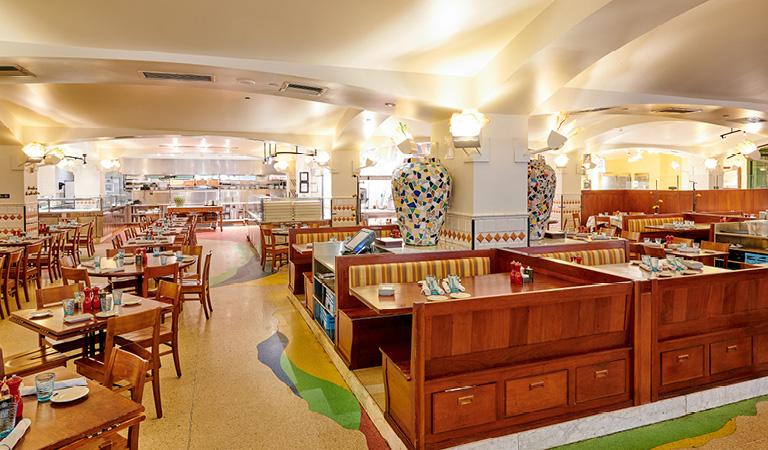Dining area inside Naples 45 Ristorante e Pizzeria