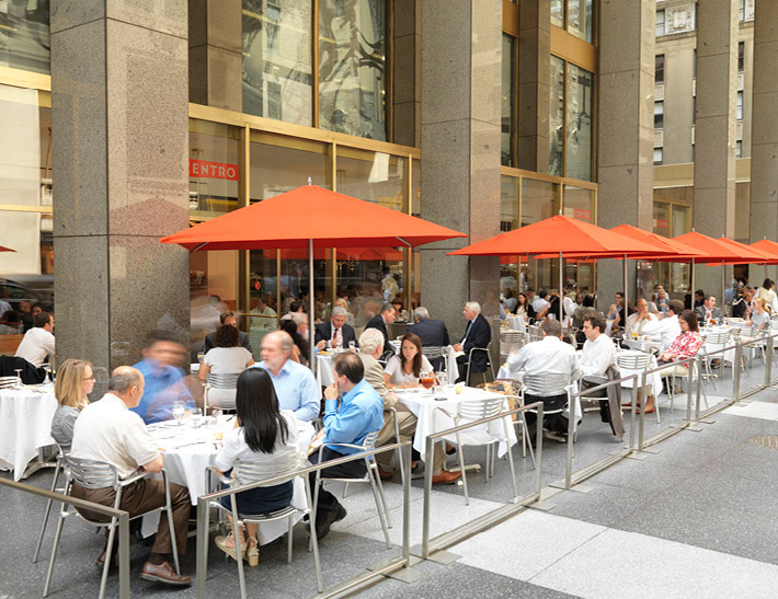 Dining area inside Cafe Centro at MetLife Building in midtown New York City